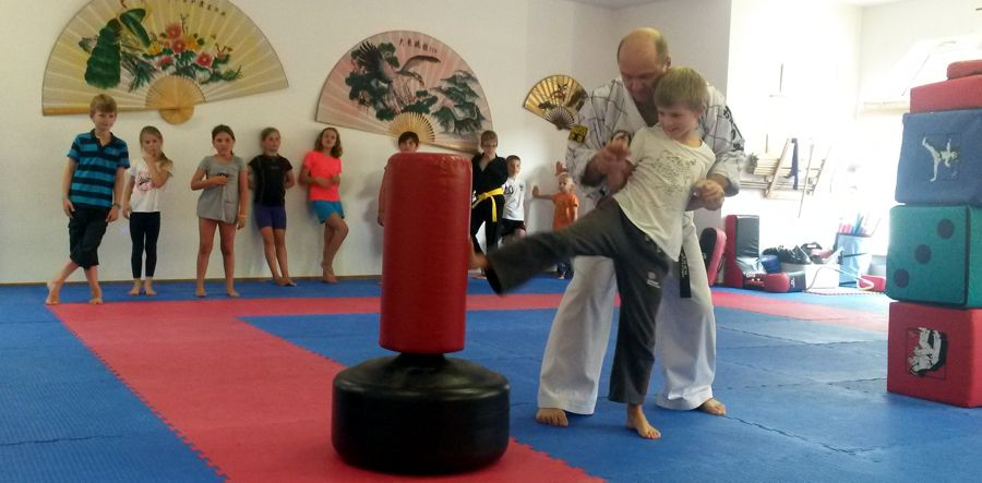Hapkido Ferienpass 2014 Kinder kicken